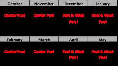 Pool schedule 2016-17