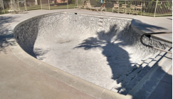 East Pool with plaster and tile removed, without handrail